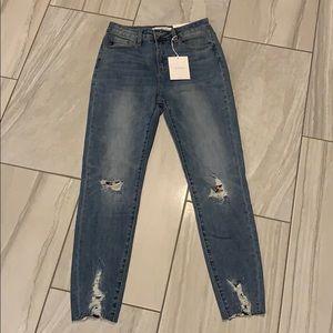 NEW jeans KanCan 7/27 Cheetah High Rise Skinny NWT